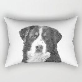 Black and White Bernese Mountain Dog Rectangular Pillow