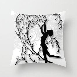 Dancing In Willows Throw Pillow