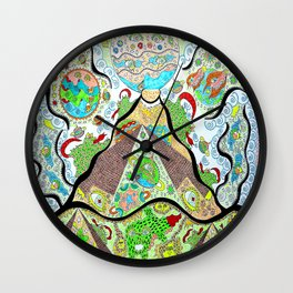 Cosmic Pyramids Wall Clock