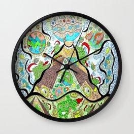 Cosmic Pyramids Wall Clock