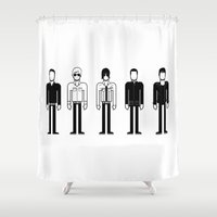 oasis Shower Curtains featuring Oasis by Band Land