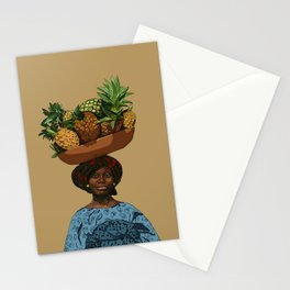 African woman- Nigeria Stationery Cards