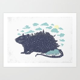 City Rat Art Print