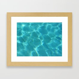 Turquoise Blue Water Framed Art Print