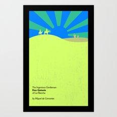 The Ingenious Gentleman Don Quixote of La Mancha  by Miguel de Cervantes Book Cover Redesign Art Print