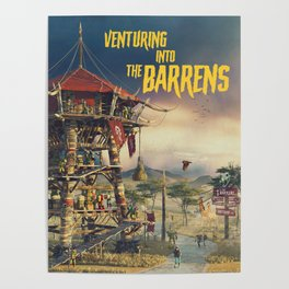 Venturing into the Barrens (Novel cover) Poster