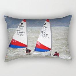 Topper Dinghies racing at sea Rectangular Pillow