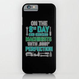 Machinist Machine Programming Machinery iPhone Case