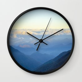 Clouds at eye level  Wall Clock