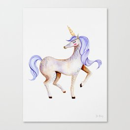 Purple Unicorn — Portrait Canvas Print