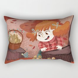 Autumn time | Giadina and mushrooms Rectangular Pillow