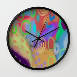 Abstract Digital Painting by Jackie Ludtke Wall Clock
