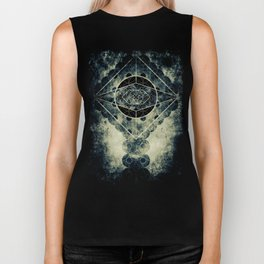 Sacred Geometry for your daily life -  SATURN EYE Biker Tank