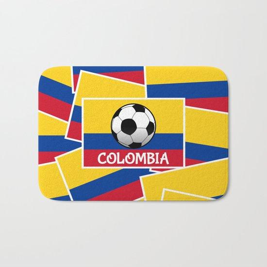 Colombia Football Bath Mat