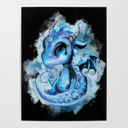 Lil DragonZ - Elements Series - Water Poster