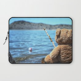 Come on Walter said the fishing teddy bear Laptop Sleeve