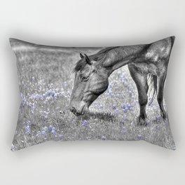 Horse & Bluebonnets Rectangular Pillow