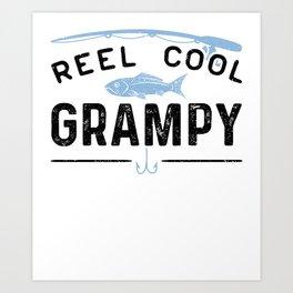 Reel Cool Grampy Art Print