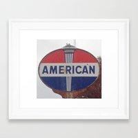 american Framed Art Prints featuring American by Jonni R. Webb