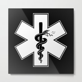 EMS Star of Life Metal Print