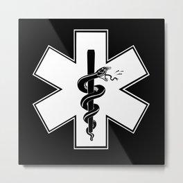 EMS Star of Life Metal Print
