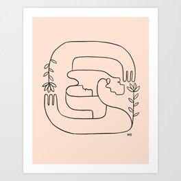 Hope is close, love is near Art Print