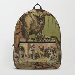 Vintage Illustration of Various Dog Breeds (1893) Backpack
