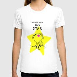 MOZART WAS A ROCK STAR (BLUE) T-shirt