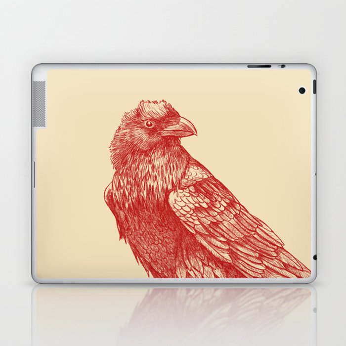 Red Raven  Laptop & iPad Skin
