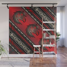 Horse Nation (Red) Wall Mural