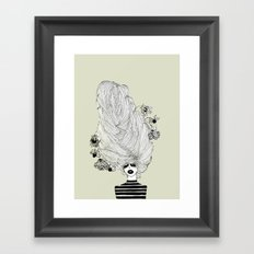 Hair Overload Framed Art Print