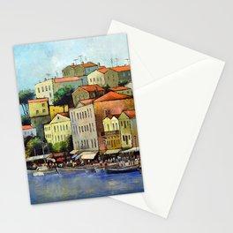 Mediterranean town Stationery Cards