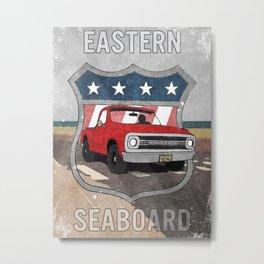 Eastern Seaboard Dusty Beach Chevy Metal Print
