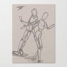 dancing mannequinns Canvas Print