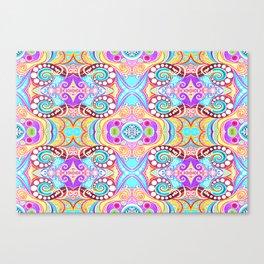 Light Blue Symmetry Canvas Print