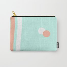 Turquoise & Coral (1) Carry-All Pouch