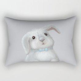 White Rabbit Boy Rectangular Pillow