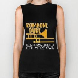 Costume For Trombone Lover. Gift From Grandma. Biker Tank