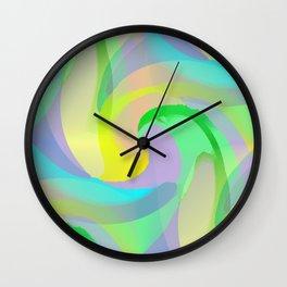 Soft Rainbow Abstract - Painterly Wall Clock