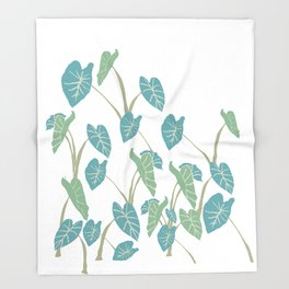 taro leaf hawaii Throw Blanket