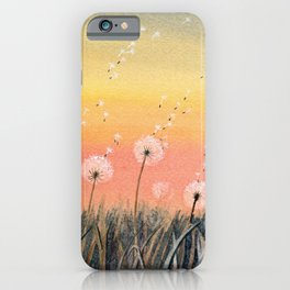 Up, Up and Away - Dandelion Watercolor iPhone Case