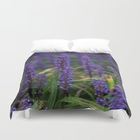 lavender Duvet Covers featuring Lavender by Tracy66
