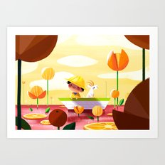 Golden Afternoon Art Print