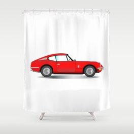 Old Hard Top Sports Car Shower Curtain