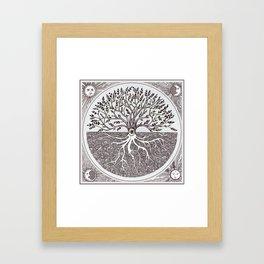 Tree of Life as above so below Framed Art Print