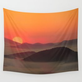 Sunrise Over Blue Ridge Mountains Wall Tapestry