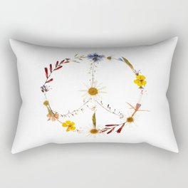 Peace flowers Rectangular Pillow