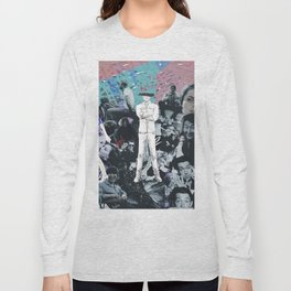 WHITE COLLAGE | Classic and Modern MOVIE Stars | digital Painting | Collage,digital print,art,poster Long Sleeve T-shirt