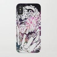 freddy krueger iPhone & iPod Cases featuring Galaxy Robert Englund Freddy Krueger by Cookie Cutter Cat Lady