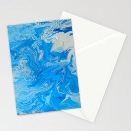 Fluid Blue 1 Stationery Cards